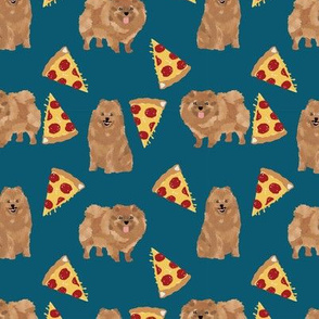 pomeranian dog fabric, cute dog design, pom dog, pizza food fabric
