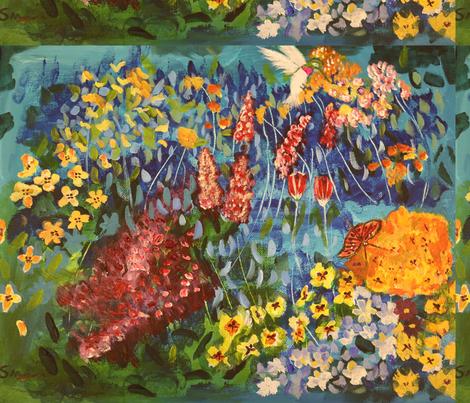 Spring_GardenRB fabric by shahlaart on Spoonflower - custom fabric
