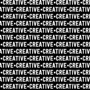 Creative Text | Black