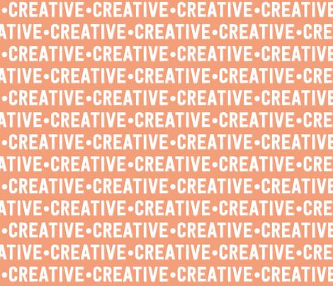 Creative Text | Dark Salmon fabric by handmadephd on Spoonflower - custom fabric