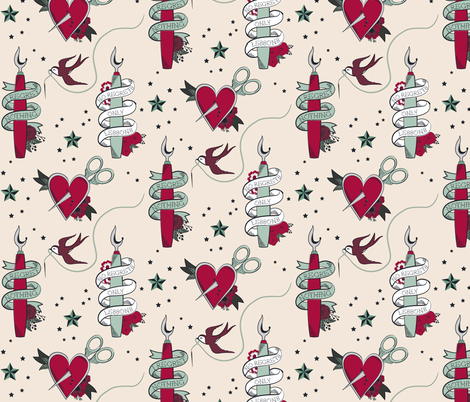 No Regrets in Sewing fabric by jennifer_todd on Spoonflower - custom fabric