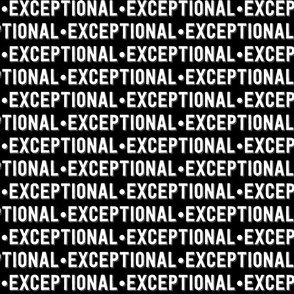 Exceptional Text | Black