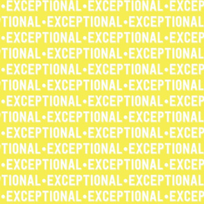 Exceptional Text | Yellow