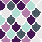purple + aqua mermaid scales