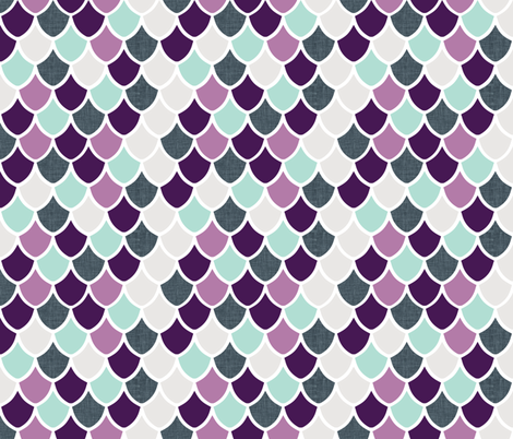 purple + aqua mermaid scales fabric by ivieclothco on Spoonflower - custom fabric
