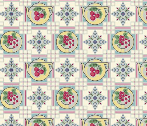 Teapot fabric by bradbury_&_bradbury on Spoonflower - custom fabric