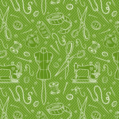 sewing pattern fabric by torysevas on Spoonflower - custom fabric