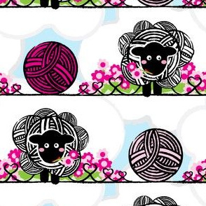 Yarn_Sheep_CloverFlowersPink