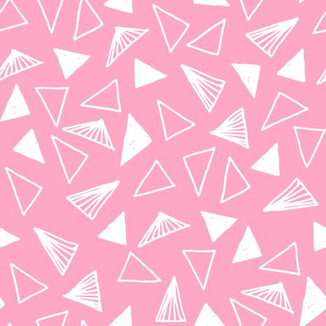 triangles // pink triangles fabric pink triangles design  fabric by andrea_lauren on Spoonflower - custom fabric