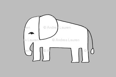 elephant // grey elephants nursery baby design elephants fabric