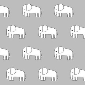 elephant // grey elephants nursery baby design elephants fabric