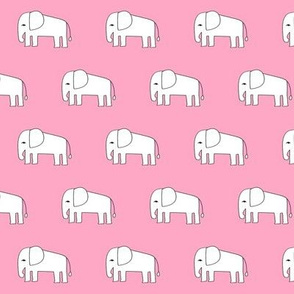 elephants // pink elephant fabric cute elephant nursery baby design