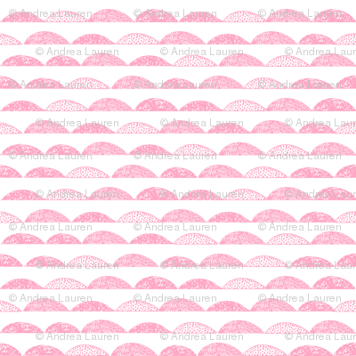 scallop // pink scallops fabric nursery baby design