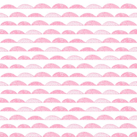 scallop // pink scallops fabric nursery baby design fabric by andrea_lauren on Spoonflower - custom fabric