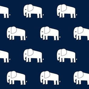 elephants // navy blue elephant fabric nursery baby design