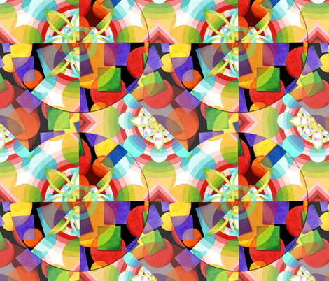 Prismatic Rainbows fabric by patriciasheadesigns on Spoonflower - custom fabric