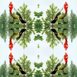 Christmas Bird and Tree