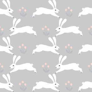 bunny rabbits // nursery cute baby nursery spring bunnies design