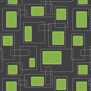 Abstract Stitched Greenery