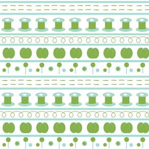 sewing greenery fair isle MED -3 shades