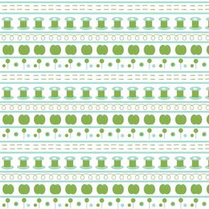 sewing greenery fair isle SMALL -3 shades