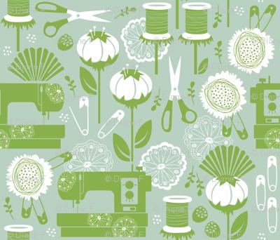 Garden of Sewing Supplies - Original Limited Palette
