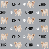 custom name pom dog fabric - customizable pomeranian fabric cute dogs design