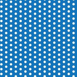 White on Blue Polka Dot_Miss Chiff Design