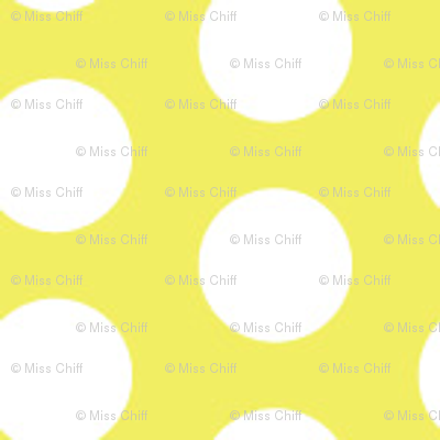 16-13AR White Polka Dots on Lemon Yellow_Miss Chiff Designs