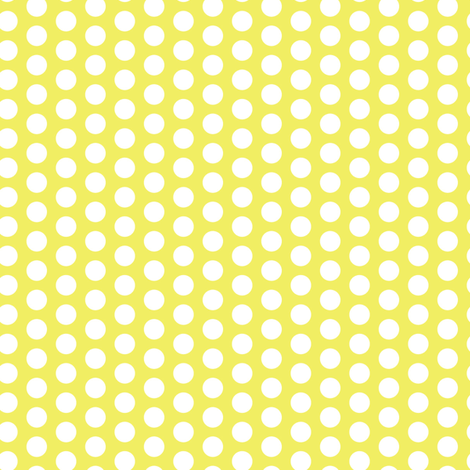 16-13AR White Polka Dots on Lemon Yellow_Miss Chiff Designs fabric by misschiffdesigns on Spoonflower - custom fabric