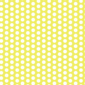 White Polka Dots on Lemon Yellow_Miss Chiff Designs