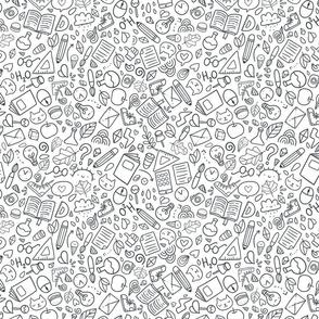 school pattern  doodle