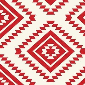 Aztec- Red, Ivory