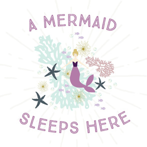 A Mermaid Sleeps Here Baby Blanket // Laguna Blonde