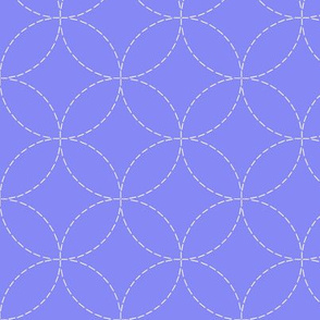 faux sashiko embroidery on periwinkle