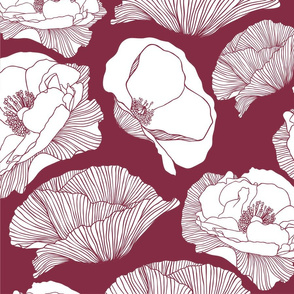 Wine Background Poppies