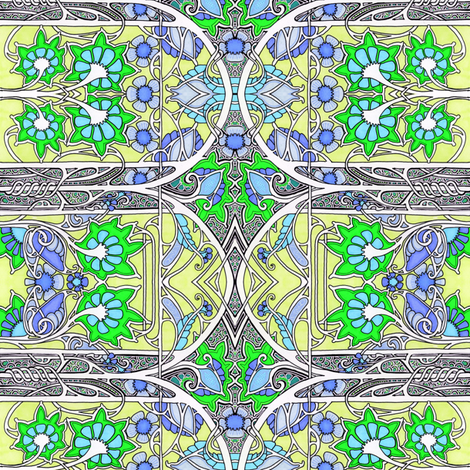 An Edwardian Look at Spring fabric by edsel2084 on Spoonflower - custom fabric