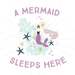 A Mermaid Sleeps Here Baby Blanket // Laguna Brunette