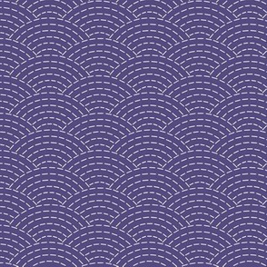 faux sashiko scallop on soft purple
