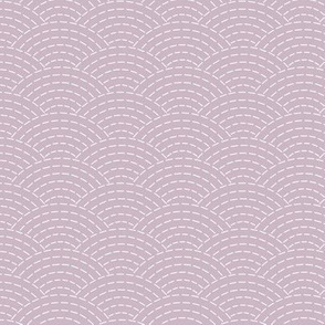 faux sashiko scallop on mauve