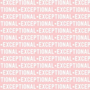 Exceptional Text | Provincial Pink