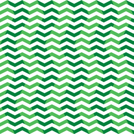 wavy chevron - candy cane green, small fabric by weavingmajor on Spoonflower - custom fabric