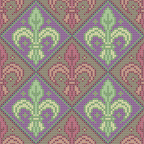 Fleur-de-Lis small 4 fabric by enid_a on Spoonflower - custom fabric