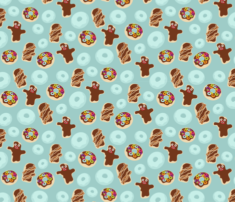 VooDoo doughnuts - small fabric by thecalvarium on Spoonflower - custom fabric