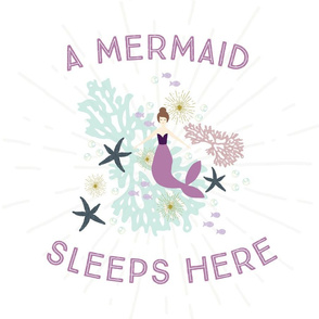 A Mermaid Sleeps Here Lovey // Laguna Brunette