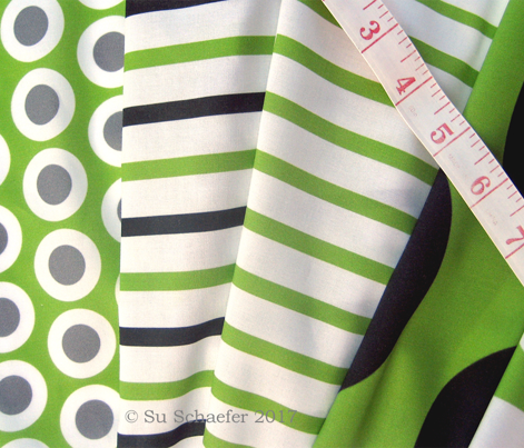 Green +white traditional sailor's jersey stripes by Su_G