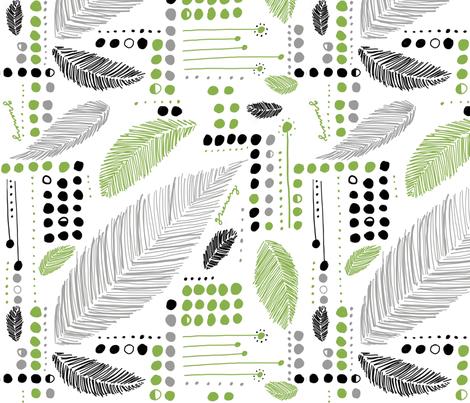 Greenery grey fabric by molliemargaret on Spoonflower - custom fabric