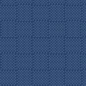 faux sashiko weave on navy