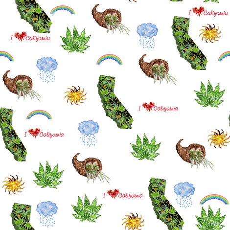 I Love CA 420 fabric by camomoto on Spoonflower - custom fabric