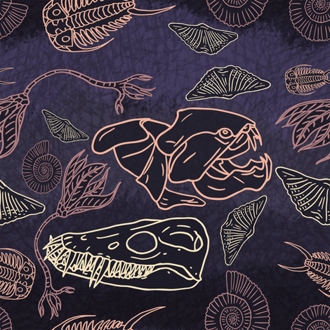 Fossils my favorit fabric by craftyscientists on Spoonflower - custom fabric